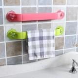 创意家居 炫彩可伸缩可旋转吸盘式角落架 卫浴用品毛巾挂架 粉色