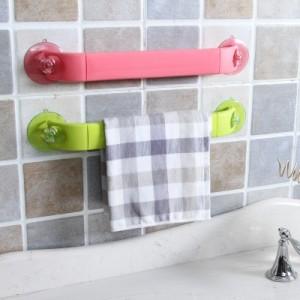 创意家居 炫彩可伸缩可旋转吸盘式角落架 卫浴用品毛巾挂架 蓝色