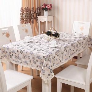 欧式棉麻蕾丝花边餐桌布 餐桌垫(中号110*160cm) 印象巴黎