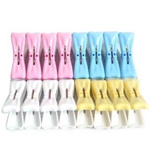 双色领花六号衣夹(16装)LX-595