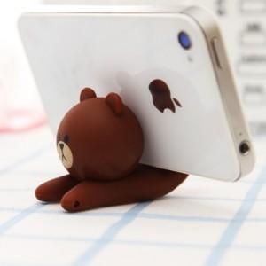 创意卡通软胶手机支架手机座(pvc盒) 馒头人