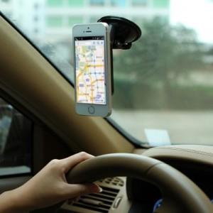 多功能车载手机导航支架汽车通用吸盘式手机座懒人手机架 白色