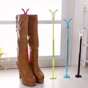 兔子可伸缩靴子支撑架 靴撑 长靴夹子 鞋子架 靴筒撑夹 绿色