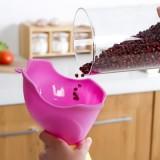可爱小象漏斗 厨房多功能炫彩漏斗 居家厨房水漏 油漏 粉色