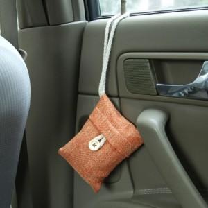 麻袋竹炭包 抗菌去异味空气净化居家 汽车除味竹炭包 橙色
