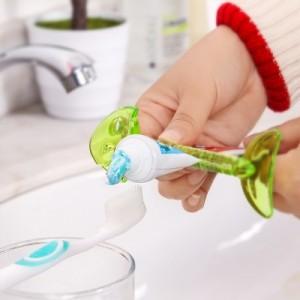 创意鱼骨牙膏夹挤牙膏器懒人牙膏挤压器果蔬皮刮 蓝色
