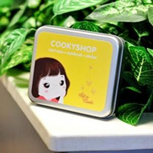 cookyshop 铁盒贴纸卡包三件套(黄色小号)