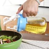 30年老品牌振兴 厨房玻璃油瓶防漏控油调味瓶 带刻度定量油壶450ml YH5893