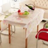 优质PEVA磨砂透明防水防尘台布/桌布--粉色圆圈(130*140cm)