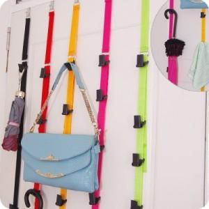 居家可调节免钉高强度门背式挂钩衣帽挂架 黄色 120个/箱