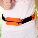 户外运动旅行跑步腰带 便携透气贴身防盗腰包 布艺款 浅蓝