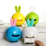 创意可爱时尚兔子浴室厕所吸盘式卷筒 纸巾盒 纸抽盒 车用抽纸盒 绿色