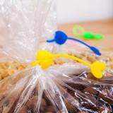 爱心硅胶塑料袋封口夹束口带电线绕线器集线器 黄色