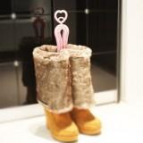 日式加长撑鞋器 防变形靴夹 鞋撑 水晶靴撑(浅粉色)