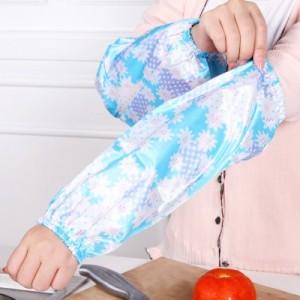 创意居家厨房清洁袖套 素花防水袖套 防污护袖