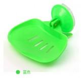 时尚彩色吸盘香皂盒 沥水肥皂盒-绿色