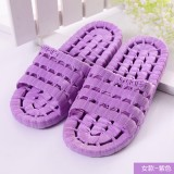 夏季镂空底塑料拖鞋 情侣浴室漏水凉拖洗澡拖鞋 紫色 100个/箱