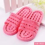 夏季镂空底塑料拖鞋 情侣浴室漏水凉拖洗澡拖鞋 西瓜红 80个/箱