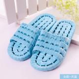 夏季镂空底塑料拖鞋 情侣浴室漏水凉拖洗澡拖鞋 天蓝 80个/箱