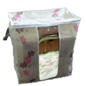 印花竹炭67L加高衣物收纳袋 整理袋 抗菌收藏袋 紫荆花