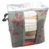 印花竹炭67L加高衣物收纳袋 整理袋 抗菌收藏袋  柳叶花