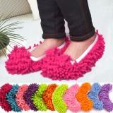 经济型超细纤维雪尼尔鞋套 擦地鞋套 两只价 多色