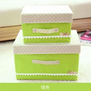 日式扣扣箱 衣物储物箱收纳盒玩具整理扣子箱 两件套 绿色 40/箱