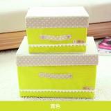 日式扣扣箱 衣物储物箱收纳盒玩具整理扣子箱 两件套 黄色 40/箱