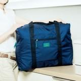 韩版大容量防水尼龙可折叠式旅行收纳包 手提旅游收纳袋 藏青色