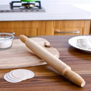 厨房烹饪工具实木擀面杖面杆面棍压面皮