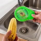 多功能便携式玉米刷 细缝去须刷 粉色