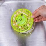 卡通动物地漏 下水管防堵过滤网 毛发过滤器 绿色