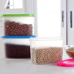 多功能食品级PP密封储物盒 冰箱保鲜盒 收纳盒 SN0090 绿色