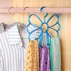 多用衣架围巾丝巾领带挂架 炫彩丝巾架 粉色