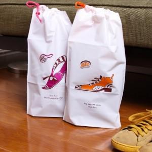 韩版旅行防水束口鞋子收纳袋(2枚装)