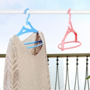 纳川 360度旋转立体衣架(5个装)A0188 蓝色