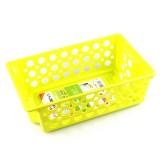 长方形圆孔多功能可叠加整理筛 收纳篮 C15-045 绿色