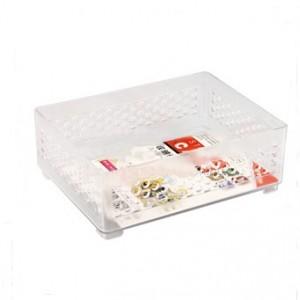 洗面用具方形置物篮 桌面化妆收纳盒 C10-002 白色