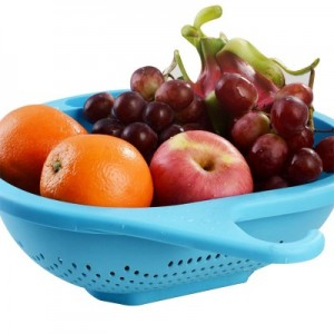 可耐高低温多用途纯色挂钩滴水筛 沥水篮 C15-050 绿色