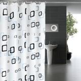 浴室防水防霉浴帘 加厚PEVA卫生间浴室帘 180*200cm  小方格
