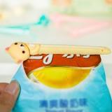 卡通造型ABS封口夹 食品水果零食保鲜防潮密封夹(2个装) 花猫