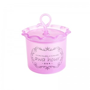 清洁神器洗面奶起泡器 打泡瓶--粉色(8641)
