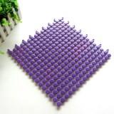 厨卫拼接圆点隔水垫 防滑垫--紫色(30*30cm)
