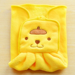 可爱卡通可挂式珊瑚绒擦手巾 厨房刺绣抹布洗碗布 黄小熊