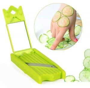 黄瓜美容切片器带镜子 美容刀-绿色(彩盒装) 500个/箱
