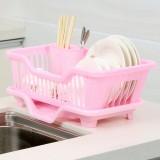 正面漏水滴水碗盆收纳架/沥水碗碟架 置物架  粉色 24个/件