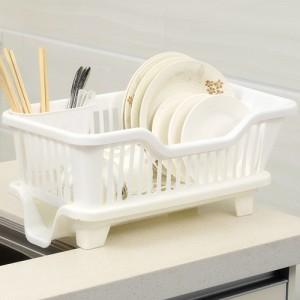 侧面漏水滴水碗盆收纳架/沥水碗碟架 置物架  白色 24个/件