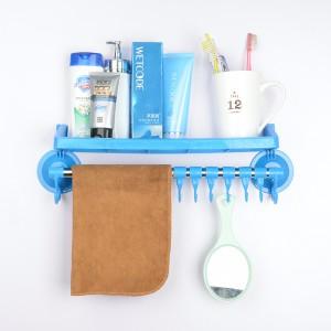 强力吸盘置物架/卫生间用品挂钩 浴室毛巾架 蓝色  100个一件