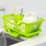 正面漏水滴水碗盆收纳架/沥水碗碟架 置物架 绿色 24个/件