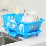 正面漏水滴水碗盆收纳架/沥水碗碟架 置物架 蓝色 24个/件